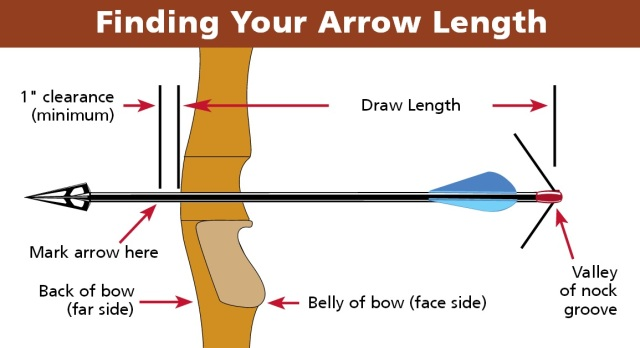 Hunting Arrows Drawing Finding Your Arrow Length
