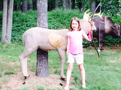 3D archery can be a family affair.