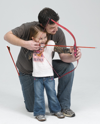 3Rivers Archery Vice President of Sales and Marketing, Johnny Karch, and his daughter, Bella.